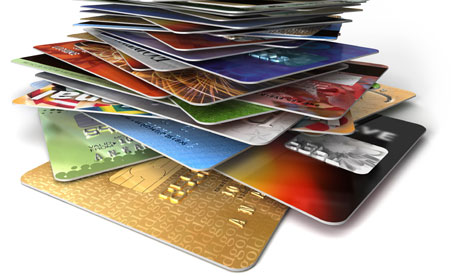 stack of credit cards 810Tax.com